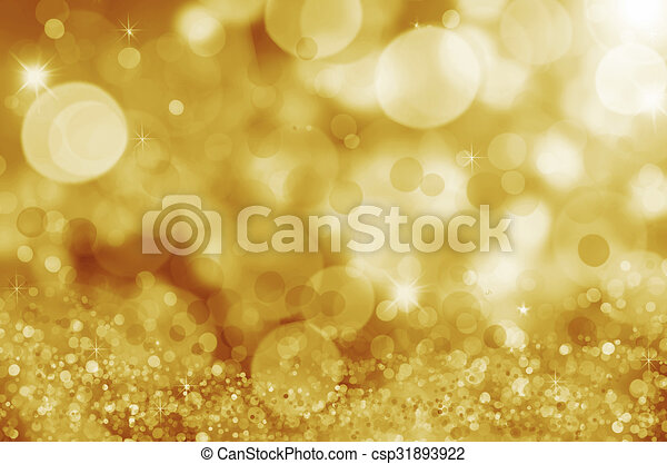 Twinkly Lights and Stars Christmas Background - csp31893922