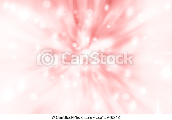 Twinkly Lights and Stars Christmas Background - csp15946242