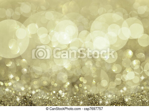 Twinkly Silver Lights and Stars - csp7697757