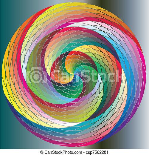 Twirl, multicolored Rainbow Circles - csp7562281