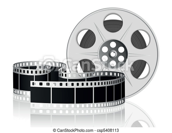 Twisted film for movie. Vector Illustration. - csp5408113