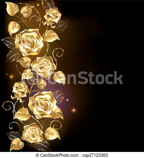 twisted gold rose - csp27123363