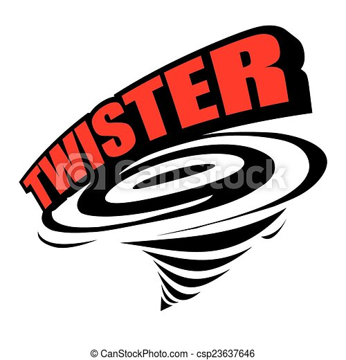 the abstract of twister icon vector