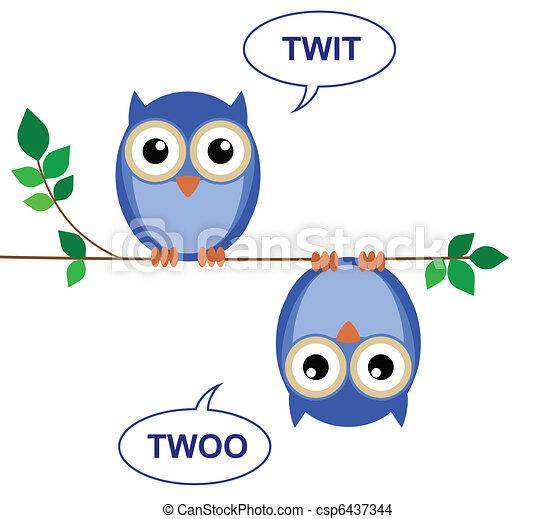 twit, twoo - csp6437344