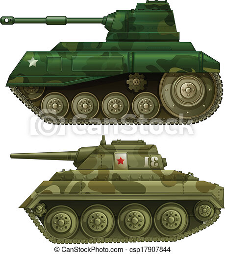Two armoured tanks - csp17907844