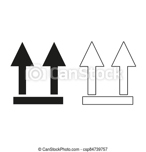 two arrow up sign - green vector icon - csp84739757