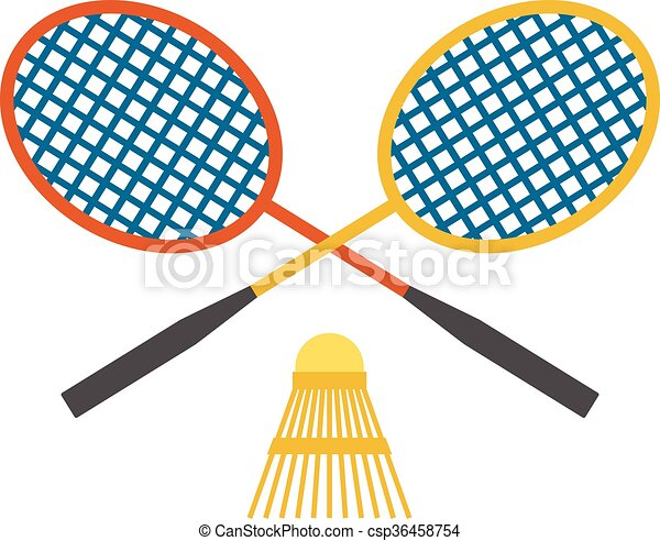 two badminton racket and shuttlecock sport game leisure competition rh canstockphoto com badminton clipart free badminton clipart free