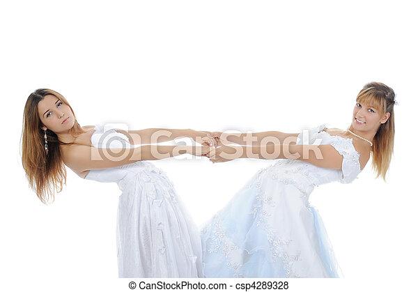 Two beauti bride - csp4289328