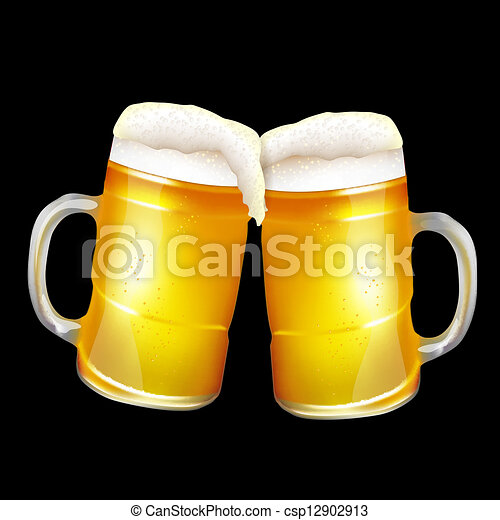 Two beer mugs - csp12902913