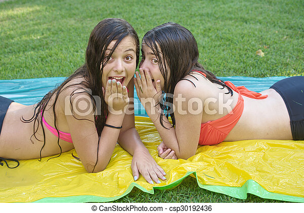 Girls in teen bathing suits