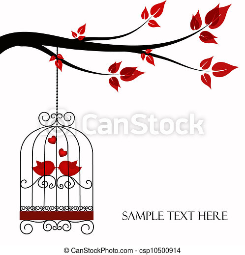 Two birds in a cage - csp10500914