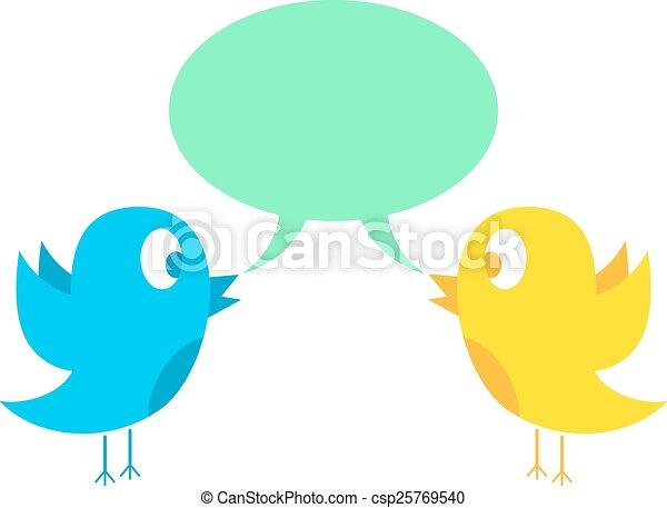 two birds tweeting - csp25769540