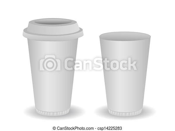 Two blank paper coffee cup - csp14225283