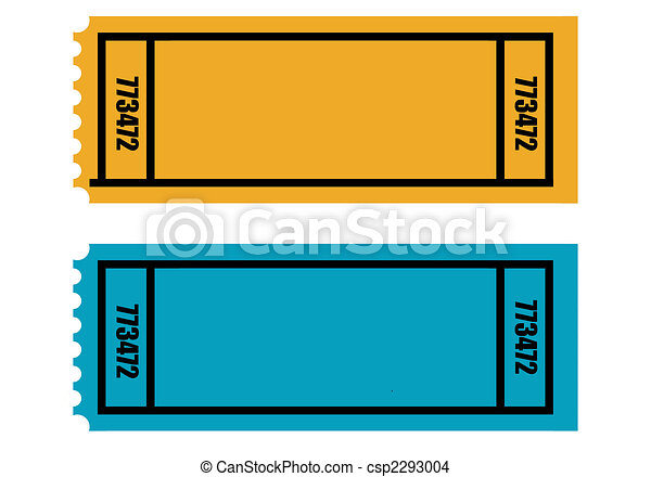 two blank tickets two blank perforated tickets isolated on white
