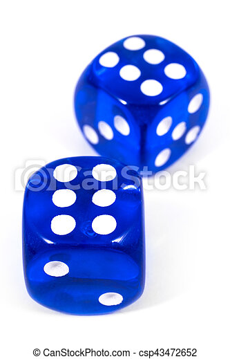 Two Blue Dice - csp43472652