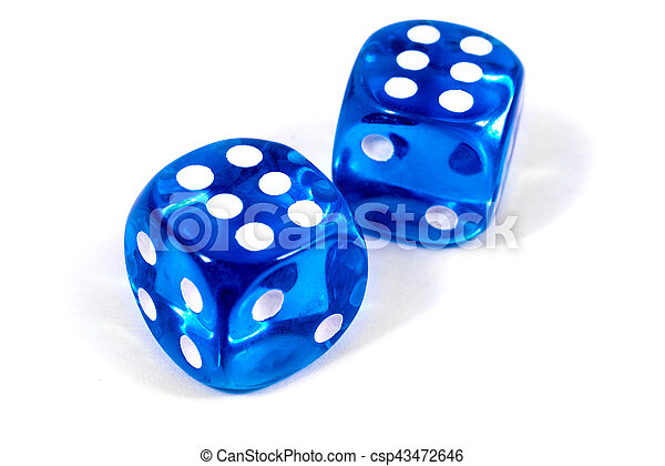 Two Blue Dice - csp43472646