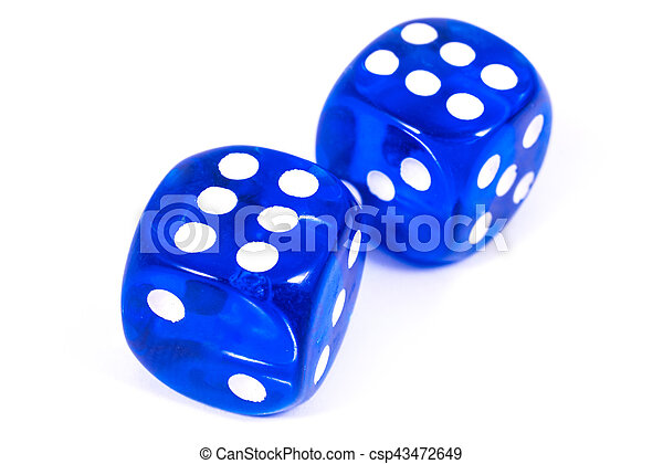 Two Blue Dice - csp43472649