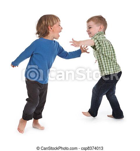 two boys having fun - csp8374013