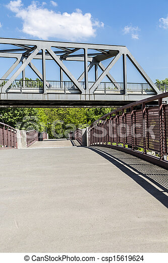 two bridges crossing each other - csp15619624