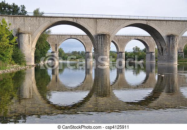 Two bridges in perfect harmony - csp4125911