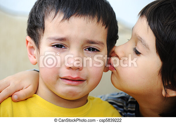 Two brothers sad - csp5839222