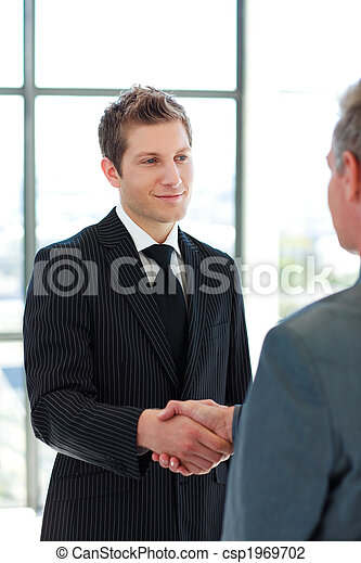 Two Business Man shaking hands - csp1969702