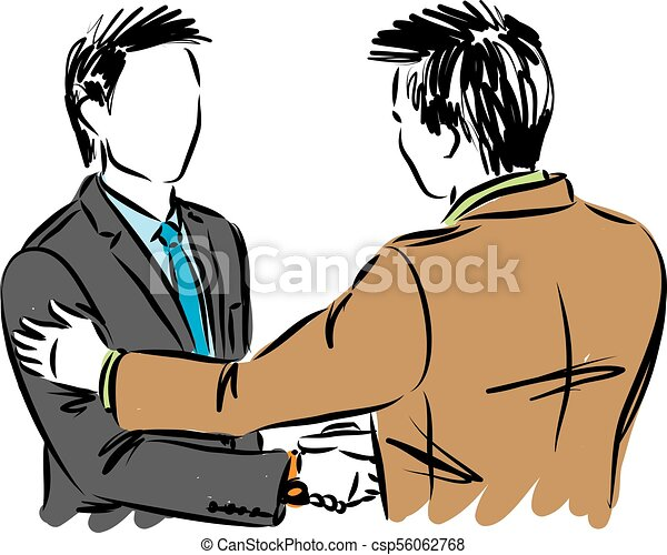 two business men shaking hands vector illustration clip art vector rh canstockphoto com business clip art free images business clip art free images