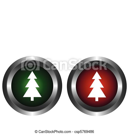 Two buttons with tree  - csp5769486