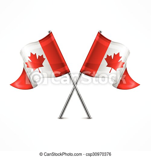 Two Canadian flag - csp30970376