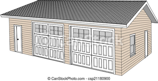 Two Car Detached Garage - csp21180900