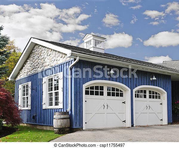Two car garage - csp11755497