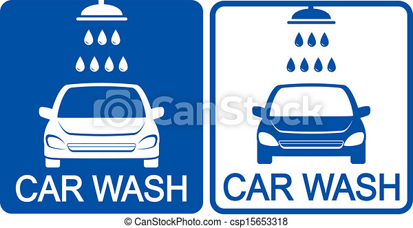 two car wash icons - csp15653318