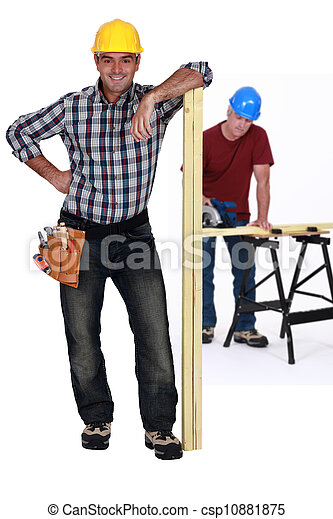 Two carpenters - csp10881875