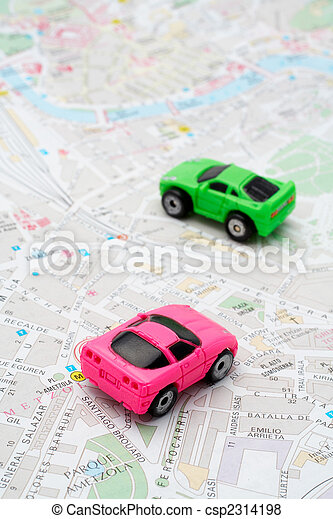 Two cars on the map - csp2314198