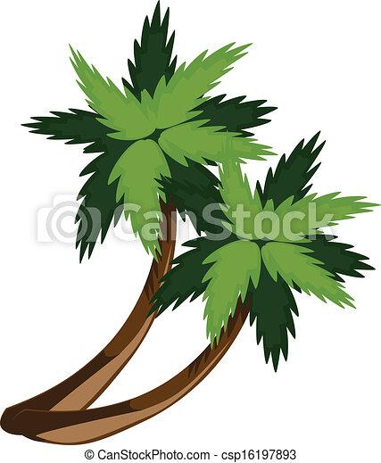 Two cartoon palms - csp16197893