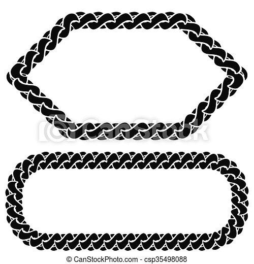 Two Chain Frames - csp35498088