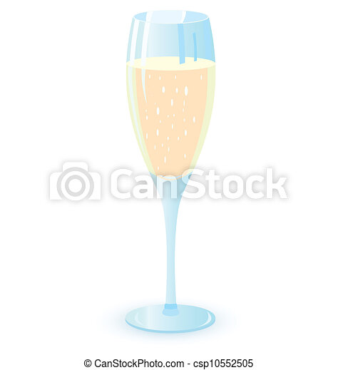 Two champagne glasses vector illutration - csp10552505