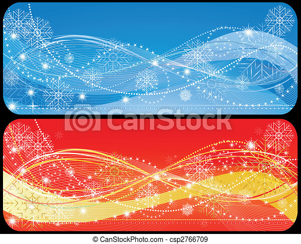 Two christmas banner - csp2766709