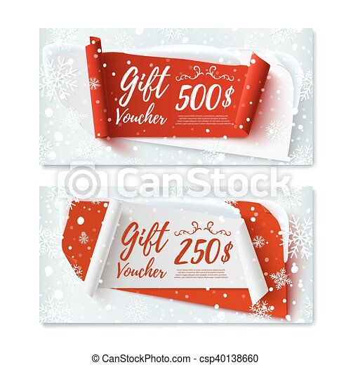 Two Christmas Time Winter Gift Vouchers Two Christmas Time