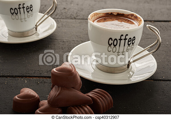 two coffee and sweets - csp40312907