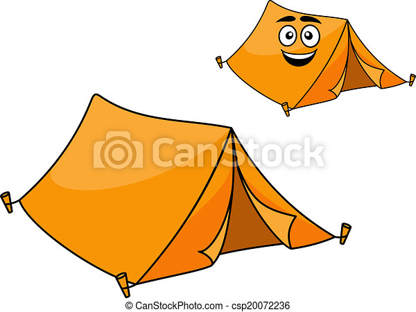 Two Colorful Orange Tents Vector  sc 1 st  Can Stock Photo & Two colorful orange tents. Two colorful orange canvas tents ...