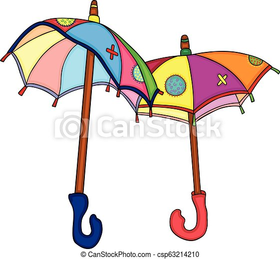 Two colorful umbrellas - csp63214210