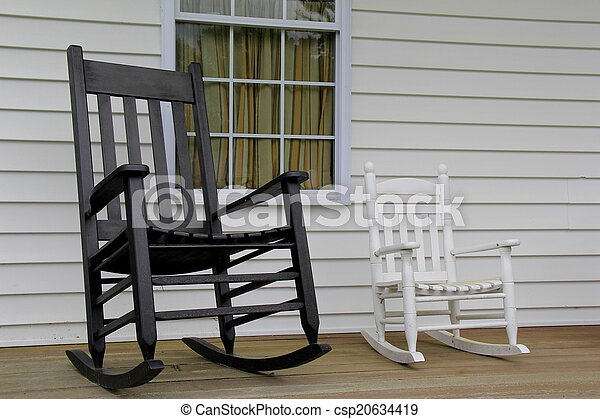 Two Comfortable Rocking Chairs Two Comfortable Adirondack Rocking