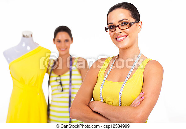 two confident fashion designers - csp12534999