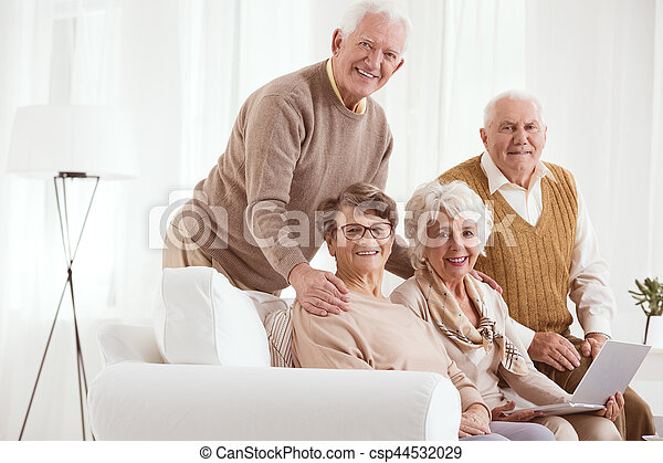 Two couple of grandparents - csp44532029