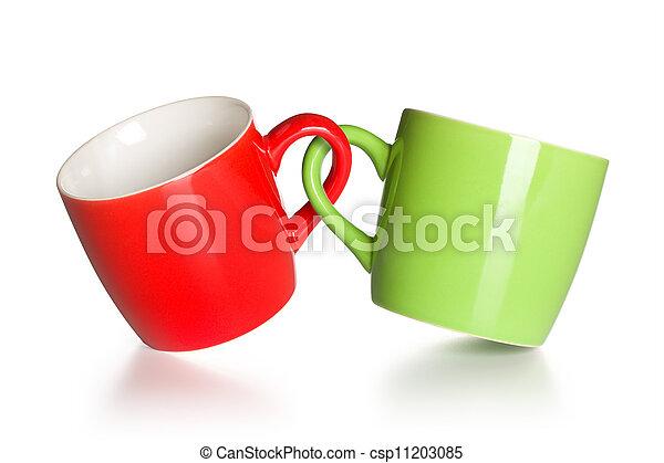 two coupled coffee mugs - csp11203085