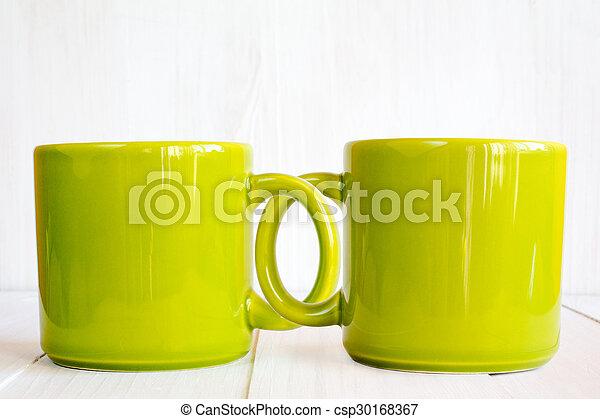 Two coupled coffee mugs - csp30168367