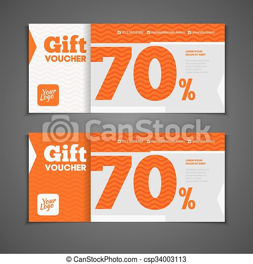 Two coupon voucher design. gift voucher template with amount ...