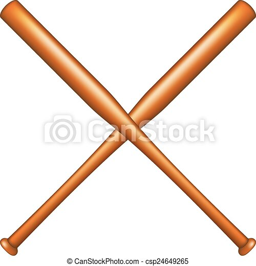 two crossed baseball bats on white background clip art vector rh canstockphoto com  crossed baseball bats clipart black and white