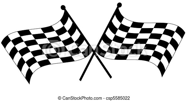 two crossed checkered flags - csp5585022